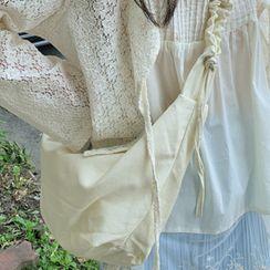 FROMBEGINNING - Shirred Denim Hobo Bag