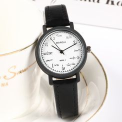 Epoca - Faux Leather Strap Watch