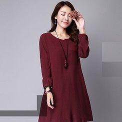Romantica - Long-Sleeve Plain Dress