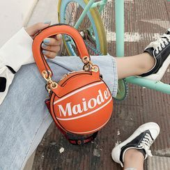 Cat Palace - Top Handle Basketball Crossbody Bag
