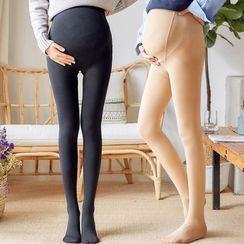 Ikanox - Maternity High-Waist Tights / Stirrup Leggings