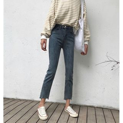 Moon City - Crop Straight Fit Jeans