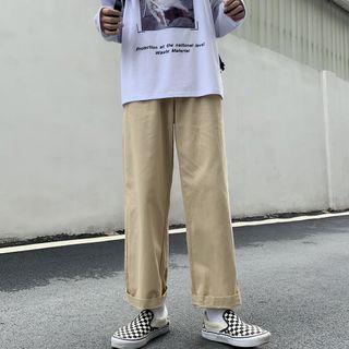 LINSI - 纯色宽腿裤