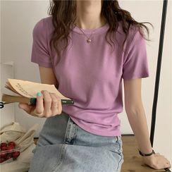Luminato - Short-Sleeve Plain T-Shirt