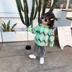 Blue Papa - Kids Striped Sweater