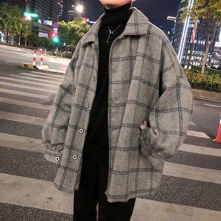 DragonRoad - 格子飾扣外套