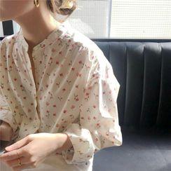 Serendipitous - 燈籠袖碎花襯衫