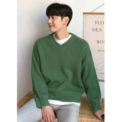 JOGUNSHOP - V-Neck Boxy Sweater