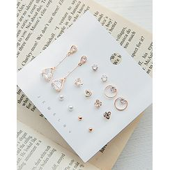 Miss21 Korea - Various Earring & Stud Set (14 PCS)