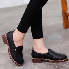 Kristallica - Faux Leather Slip-Ons