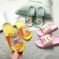 Ishanti - 小兔细节拖鞋