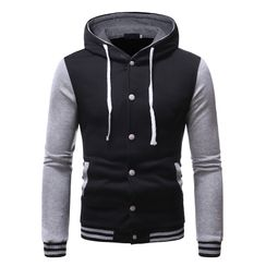 Andrei - Color Block Drawstring Hooded Jacket