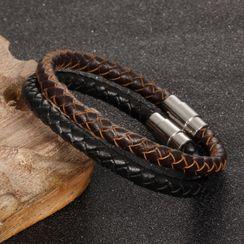 Creole - Woven Faux Leather Bracelet