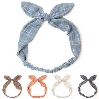 Reiro - Plaid Ribbon Headband