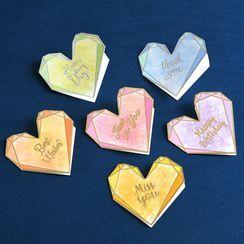 DAILYCRAFT - Iridescent Heart Greeting Card