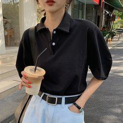 A7 SEVEN - Elbow-Sleeve Polo Shirt