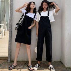 Tonni's - 饰口袋背带裤 / 背带连衣裙