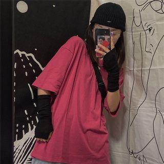 Porstina - 纯色短袖T裇