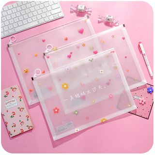 Momoi - Printed Translucent Document Pouch