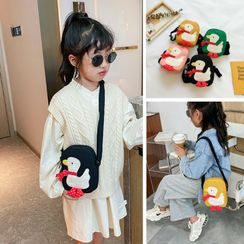Trendy Spot - Kids Duck Embroidered Canvas Crossbody Bag