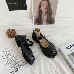 Snowflick - 漆皮瑪莉珍鞋