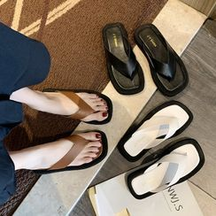 HOGG - 方形鞋头人字拖