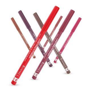 RIMMEL LONDON - Lasting Finish 1000 Kisses Stay On Lip Liner Pencil (12 Colors), 1.2g