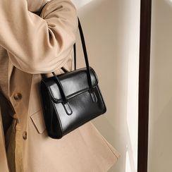 mizandrus - Plain Faux Leather Shoulder Bag
