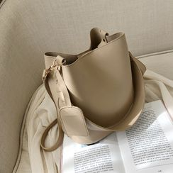 KOCORE - Faux Leather Bucket Bag