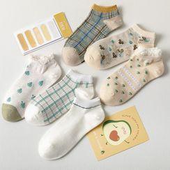 Engla - Set of 6: Print Socks