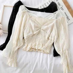 Opis - 蕾絲襯衫