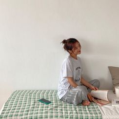 Envy Look(エンビールック) - Round-Neck Printed T-Shirt