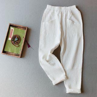 Vateddy - Straight-Cut Linen Pants