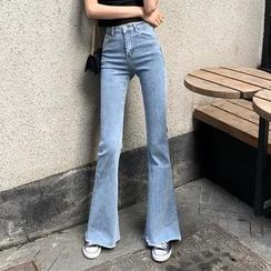 Sherman - High Waist Bell-Bottom Jeans