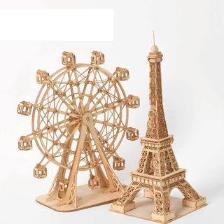 DAILYCRAFT - Wooden 3D Model Ornament (various designs)