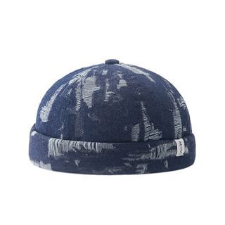 HARPY - Distressed Denim Brimless Hat