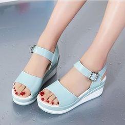 MARTUCCI - Wedge-Heel Platform Sandals