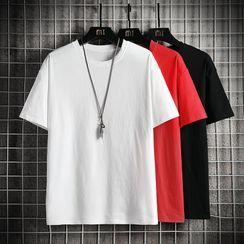 FORSETI - Plain Short-Sleeve T-Shirt