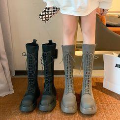 Putcho - 繫帶厚底長靴