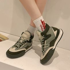 Frivole - Platform Lace-Up High Top Sneakers