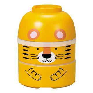 Hakoya - Hakoya Large Kokeshi Lunch Box (Tiger / Yellow)