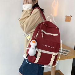 Mulgam(ムルガム) - Letter Embroidered Buckled Backpack