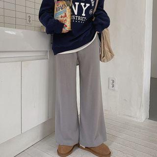 MERONGSHOP - Wide-Leg Knit Pants in 3 Lengths