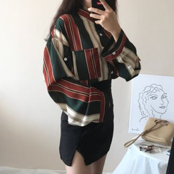 Coolvibe - Camisa de manga larga con rayas