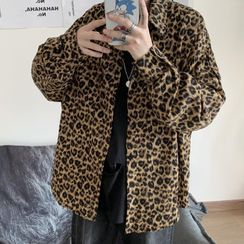 Banash - Leopard Print Long-Sleeve Shirt