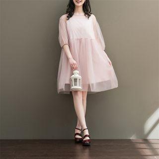 Fancy Show - 3/4-Sleeve Tulle Dress