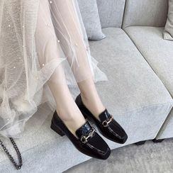 锦洋鞋业 - 漆皮金属扣乐福鞋