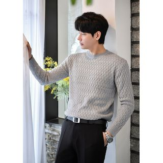 GERIO - Crew-Neck Cable-Knit Top