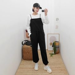 Seoul Fashion - Tie-Strap Jogger Jumper Pants