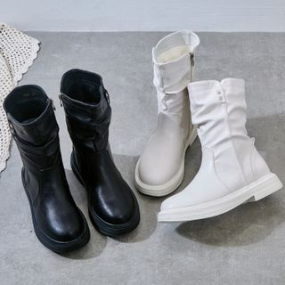 Quincee - Ruched Short Boots